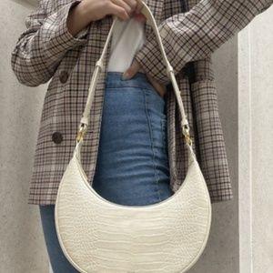 JW PEI Carly Saddle Satchel Bag in Ivory
